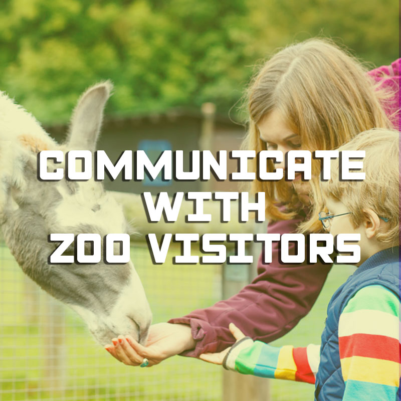 Communicate with zoo visitors illustration